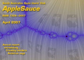 AppleSauce April 2007 - South Australian Apple Users' Club