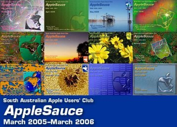 AppleSauce Contents, March 2004 to March 2006 - South Australian ...