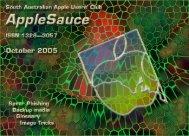 AppleSauce October 2005 - South Australian Apple Users' Club