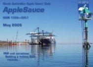 AppleSauce May 2005 - South Australian Apple Users' Club