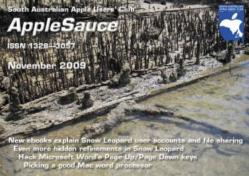 AppleSauce, November 2009 - South Australian Apple Users' Club