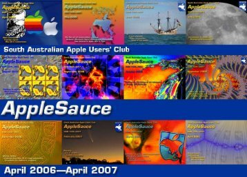 AppleSauce Contents, April 2006 to April 2007