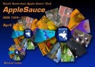 AppleSauce, April 2008–March 2009 - South Australian Apple Users ...