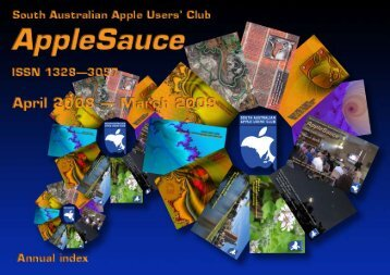 AppleSauce, April 2008–March 2009 - South Australian Apple Users ...