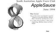 Hypertext AppleSauce June 1994 - South Australian Apple Users ...