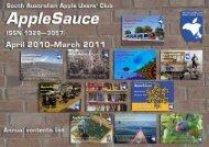 AppleSauce, April 2010–March 2011 - South Australian Apple Users ...