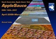 AppleSauce, April 2009–March 2010 - South Australian Apple Users ...