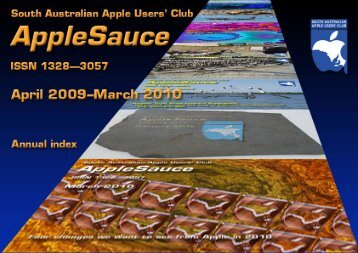 AppleSauce, April 2009–March 2010 - South Australian Apple Users ...