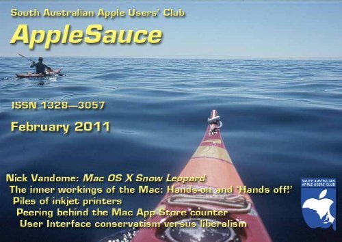 AppleSauce, February 2011 - South Australian Apple Users' Club