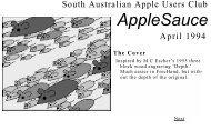 Hypertext AppleSauce April 1994 - South Australian Apple Users' Club