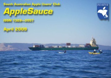 AppleSauce, April 2009 - South Australian Apple Users' Club