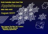 AppleSauce, August 2007 - South Australian Apple Users' Club