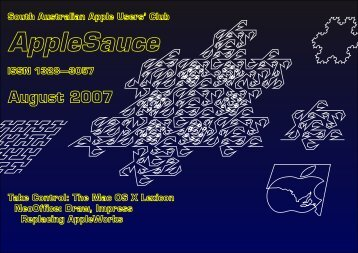 AppleSauce, August 2007 - South Australian Apple Users' Club