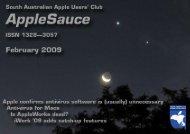 AppleSauce, February 2009 - South Australian Apple Users' Club