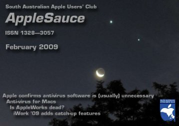 AppleSauce, February 2009 - South Australian Apple Users' Club