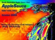 AppleSauce October 2006 - South Australian Apple Users' Club