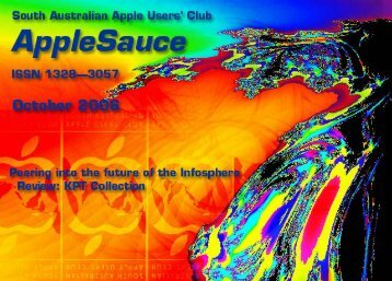 AppleSauce October 2006 - South Australian Apple Users' Club