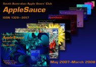 AppleSauce, May 2007–March 2008 - South Australian Apple Users ...