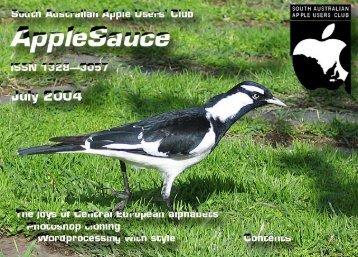 AppleSauce July 2004 - South Australian Apple Users' Club