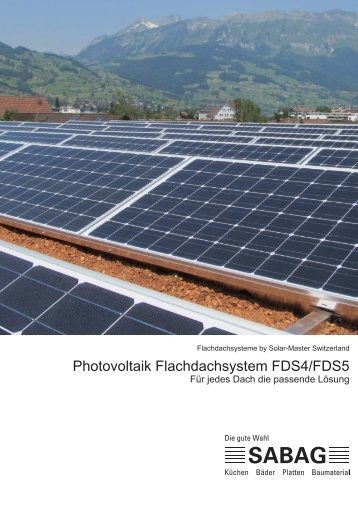 Photovoltaik Flachdachsystem FDS4/FDS5 - Sabag