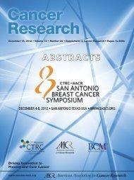 SABCS 2013 Program Book pdf - San Antonio Breast Cancer
