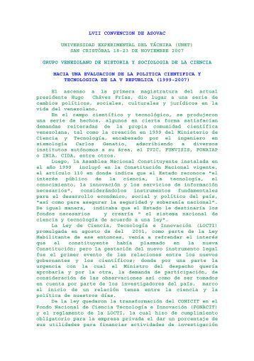 convocatoria en PDF - Saber ULA