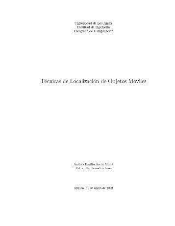 Universidad de Los Andes Facultad de Ingenieréia Postgrado de ...