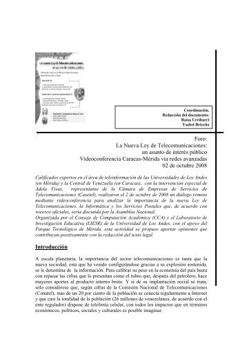 documento PDF - Saber -ULA - Universidad de Los Andes