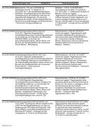 Entscheidungen vom 25/06/2012 Determinazione del
