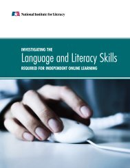 Investigating the Language and Literacy Skills Required for ...
