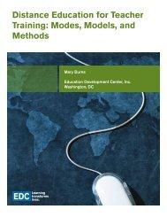 Distance Education for Teacher Training: Modes, Models ... - SABES