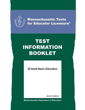 Adult Basic Education Test Information Booklet - MTELs