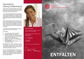 ENTFALTEN - Sabiki