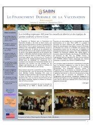 le financement durable de la vaccination - Sabin Vaccine Institute