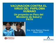 VACUNACION CONTRA EL VIRUS DEL PAPILOMA HUMANO