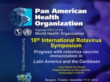 RV introcuction in the Americas - Sabin Vaccine Institute