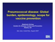 Pneumococcal disease - Sabin Vaccine Institute