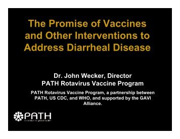 John Wecker - Sabin Vaccine Institute