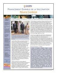 Résumé Condensé - Sabin Vaccine Institute