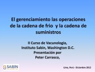 Peter Carrasco - Sabin Vaccine Institute