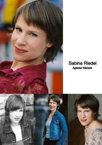 Schauspielvita - Sabina Riedel