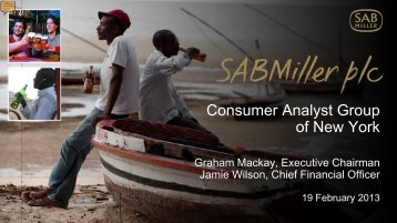 SABMiller plc - Consumer Analyst Group of New York - 19 February ...