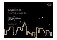 25% 20% 10% 13% 29% 3% 35% 40% 11% 10% 4% - SABMiller