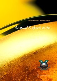 Sechaba Brewery Holdings Limited - Annual Report 2012 - SABMiller