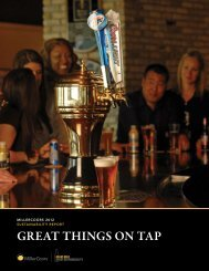 Great thinGs on tap - MillerCoors