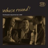 Download the 2010 Whose Round? - SABMiller