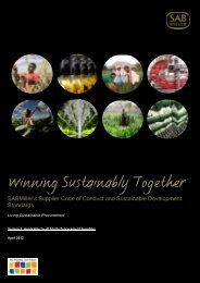 SABMiller Supplier Code of Conduct and Sustainable Development ...