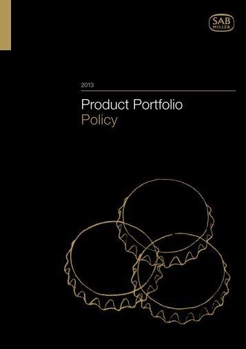 Product Portfolio Policy PDF (0.83Mb) - SABMiller