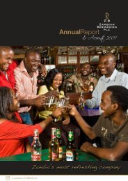 Download the Zambian Breweries 2009 Annual report ... - SABMiller