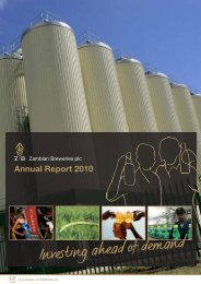 Download the Zambian Breweries plc 2010 Annual ... - SABMiller
